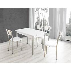 Bestline Armoni Masa ve Sandalye Takımı (6 Sandalyeli) - Beyaz