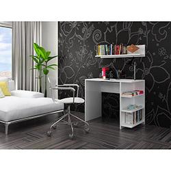House Line Kitaplıklı Çalışma Masası (Duvar Rafı Hediyeli) - Beyaz