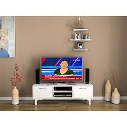 House Line Lükens Ayaklı Tv Ünitesi (Raf Hediyeli) - Beyaz