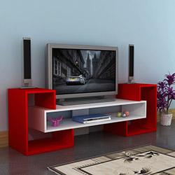 Comfy Home Kale Tv Ünitesi - Kırmızı / Beyaz