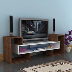 Comfy Home Kale Tv Ünitesi - Ceviz / Beyaz