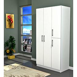 Comfy Home Işık 4 Kapılı Gardırop - Beyaz