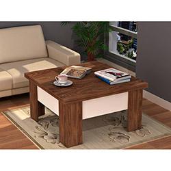 Comfy Home Matrix Akıllı Orta Sehpa - Ceviz / Beyaz