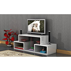 Comfy Home T Tv Sehpası - Parlak Beyaz