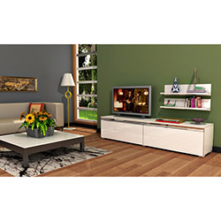 Comfy Home Ilgın Tv Ünitesi - Parlak Beyaz
