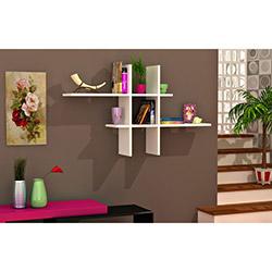 Comfy Home İlkay Duvar Rafı - Parlak Beyaz