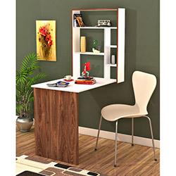 Comfy Home Magicbox Çok Amaçlı Masa - Ceviz / Beyaz