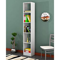 Comfy Home Işık Mini 5 Raflı Kitaplık - Beyaz