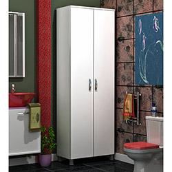 Comfy Home 2 Kapaklı Banyo Dolabı - Beyaz