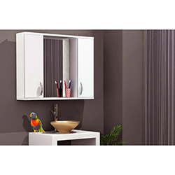 Comfy Home Lavobo Üstü Aynalı Banyo Dolabı - Beyaz