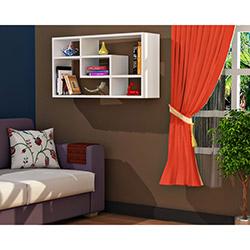 Comfy Home Çin Duvar Rafı - Beyaz