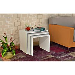 Comfy Home 3'lü Zigon Sehpa - Beyaz