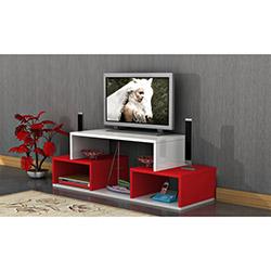 Comfy Home T Tv Sehpası - Kırmızı / Beyaz