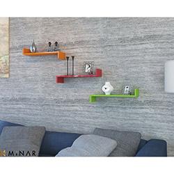Minar İxia 3'lü Duvar Rafı - Turuncu / Kırmızı / Yeşil