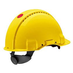 3M G 3000 NUVI Enseden Ayarlı Vidalı UV'li Havalandırmalı Sarı Baret