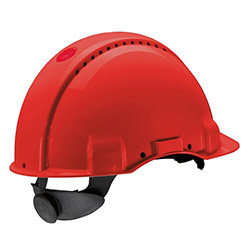 3M G 3000 NUVI Enseden Ayarlı Vidalı UV'li Havalandırmalı Kırmızı Baret