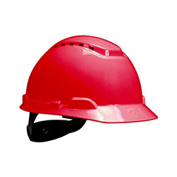 3M H700 Enseden Ayarlı Vidalı UV'li Havalandırmalı Kırmızı Baret