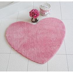 Alessia Pembe Kalp Banyo Halısı (Sevgililer Günü Özel) - Pembe