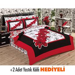 Belenay Lilyum Kırmızı Çift Kişilik Uyku Seti