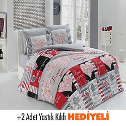 Belenay Love Çift Kişilik Uyku Seti - Kırmızı
