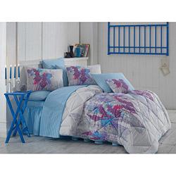 Kupon Flora 2 Çift Kişilik Uyku Seti - Mavi