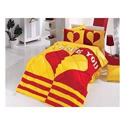 Kupon Sarı Kırmızı Tek Kişilik Uyku Seti