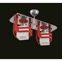 Sedef 7060-2RED Kırmzı Lazer Kesim 2'li Avize - Kırmızı
