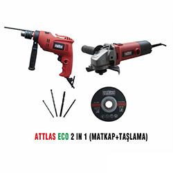 Attlas Eco 2'li Set (Matkap ve Taşlama)