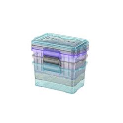Titiz 3'lü Plastik Larder Saklama Kabı Set - 10x15,5 cm