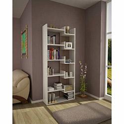 House Line Arya Kitaplık - Beyaz / Ceviz