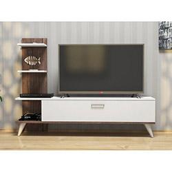 House Line Budy Tv Ünitesi - Beyaz / Ceviz