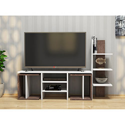 House Line Fagu Tv Ünitesi - Beyaz / Ceviz