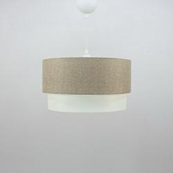 Crea Lighting/Doubleshade Keten Sarkıt (30 cm) - Sütlü Kahve