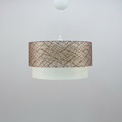 Crea Lighting/Doubleshade File Sarkıt (30 cm) - Kahve