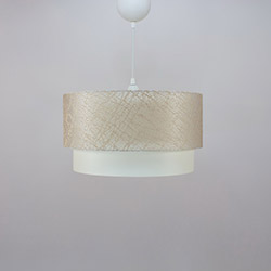 Crea Lighting/Doubleshade File Sarkıt (30 cm) - Sütlü Kahve