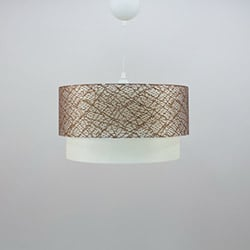 Crea Lighting/Doubleshade File Sarkıt (40 cm) - Kahve