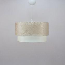 Crea Lighting/Doubleshade File Sarkıt (40 cm) - Sütlü Kahve