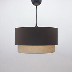 Crea Lighting/Doubleshade Cotton Sarkıt (40 cm) - Kahve/Sütlü Kahve