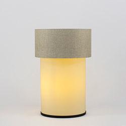 Crea Lighting/Doubleshade Keten Abajur - Sütlü Kahve