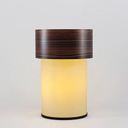 Crea Lighting/Doubleshade Wood Abajur - Ceviz