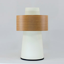 Crea Lighting/Doubleshade Wood Abajur - Koyu Bambu