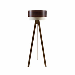 Crea Lighting Doubleshade Wood Tripod Lambader - Ceviz / Dragon Ceviz