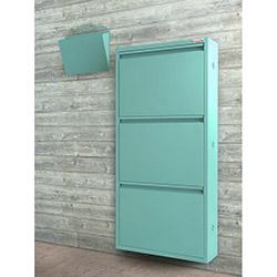 Pappuchbox Metal 3'lü Ayakkabılık 1003 (Posta Kutusu Hediyeli) - Mavi