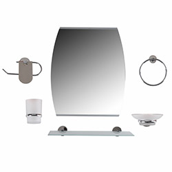 Dibanyo Amasra Oval Aynalı 6'lı Banyo Seti