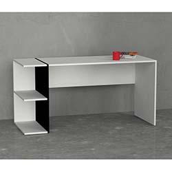 Matte Moda Çalışma Masası - Beyaz/Siyah