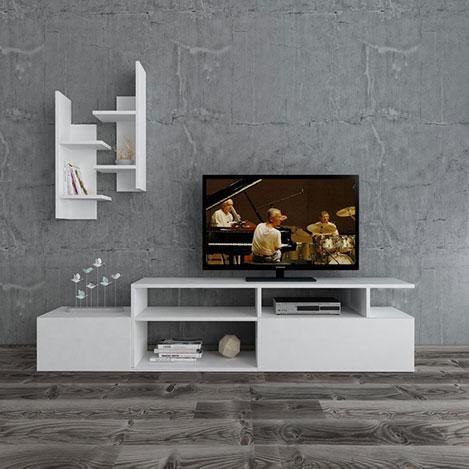 House Line Modern Tv Ünitesi - Beyaz