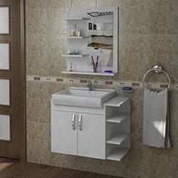 Arnetti Gediz Banyo Dolabı Seti (80 cm) - Beyaz
