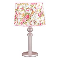Safir Light Çiçek Motifli Masa Lambası - Pembe