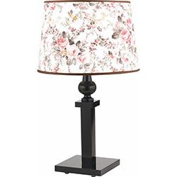 Safir Light Çiçek Motifli Masa Lambası - Pembe / Siyah