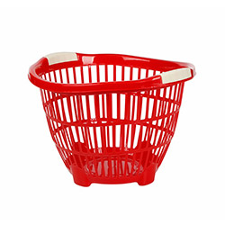 Modelüks Ayaklı Küçük Boy Çamaşır Sepeti  - Kırmızı